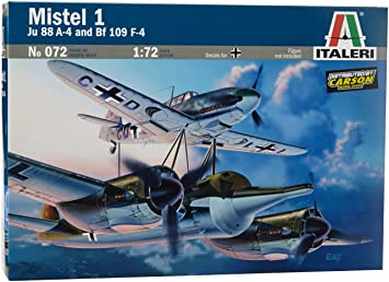 Italeri - I072 - Maquette - Aviation - Mistel 1 Ju88 + Bf109f