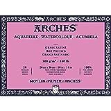 Arches Watercolor Paper Block, Hot Press, 10