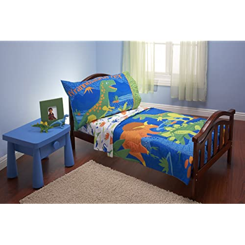 Everything Kids 4 Piece Toddler Bedding Set Dinosaurs