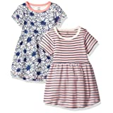 Touched by Nature Baby 2-Pack Organic Cotton Dress, Daisy, 9-12 Months