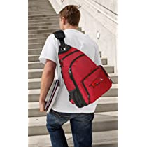 University of Arkansas Sling Backpack Red Arkansas Razorbacks One Strap Backpacks for Travel or School Bags - BEST QUALITY Unique Gifts For Boys Girls Adults College Students Men or Ladies