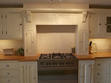 Kitchen Units Kitchen Wall Unit Cooker Surround 1900mmW Solid Wood VL5227A