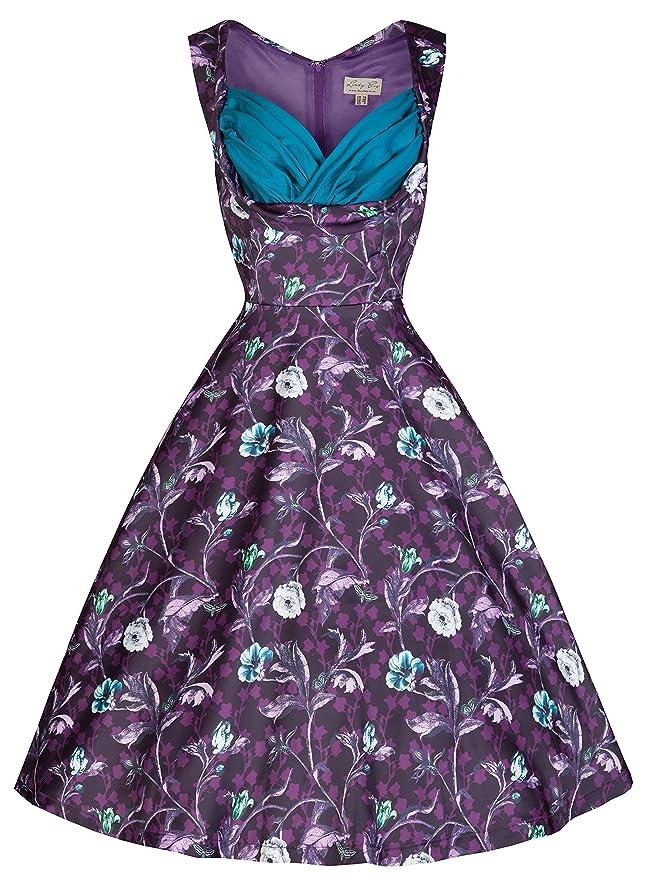 Ophelia Vintage 50s Woodland Print Party Dress                                             $67.00 AT vintagedancer.com