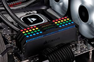 Corsair Dominator Platinum RGB 32GB (4x8GB) DDR4 3600 (PC4-28800) C18 1.35V Desktop Memory (Color: RGB, Tamaño: 32GB (4x8GB))