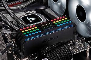 Corsair Dominator Platinum RGB 128GB (8x16GB) DDR4 3600 (PC4-28800) C18 1.35V Desktop Memory (Color: RGB, Tamaño: 128GB (8x16GB))