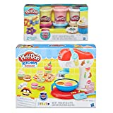 Play-Doh Kitchen Creations Spinning Treats Mixer + Play-Doh Confetti Compound Bundle