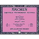 Arches Watercolor Paper Block, Hot Press, 12