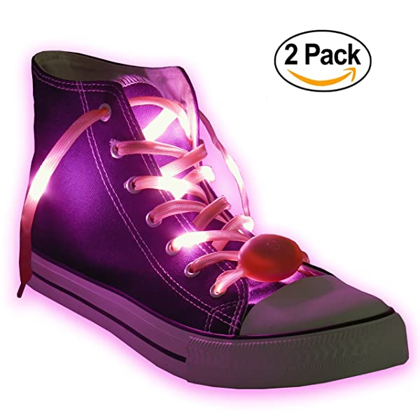 1efae04d359a3 Nylon LED Light Up,Glow in the Dark,Glowing Shoelaces by Maxstrapz ...