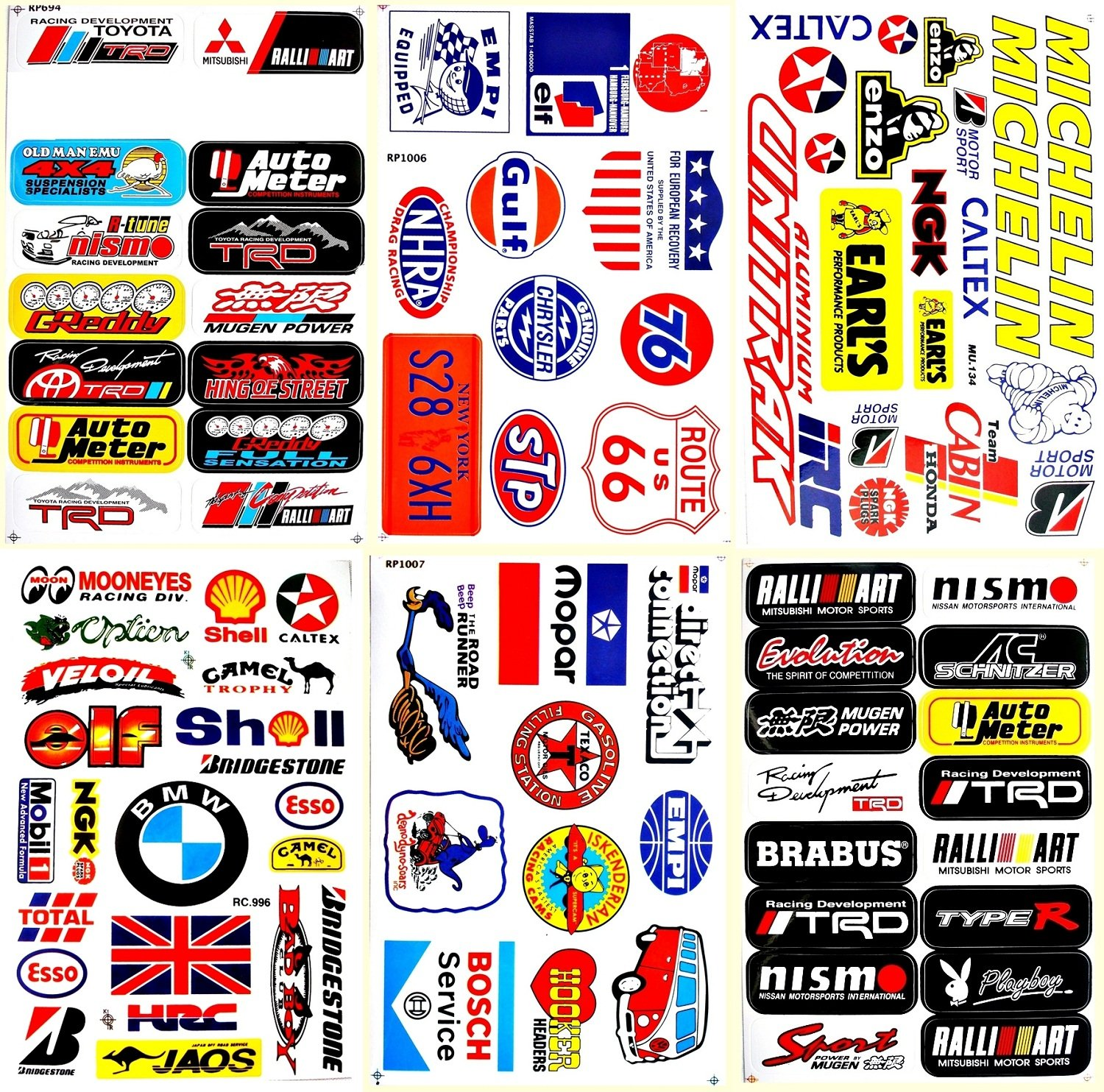 Decals Cars Racing