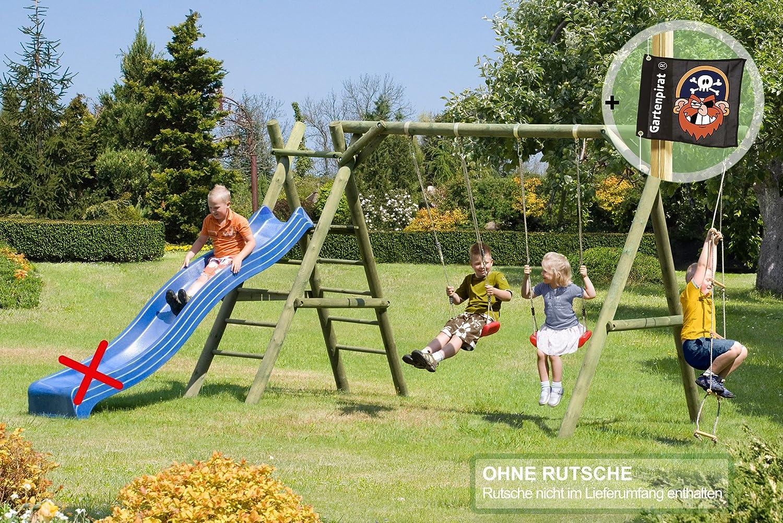Gartenpirat Doppel – Schaukel Classic 5.2 mit Kletterseil jetzt kaufen