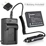 Kastar Battery (1-Pack) and Charger for Panasonic DMW-BCF10 A59 & Lumix DMC-FS12 FS15 FS25 FS4 FS42 FS6 FS7 FX40 FX48 FX550 FX580 F2 F3 FH1 FH20 FH22 FH3 FT3 FT4 FX68 FX700 FX75 TS1 TS2 TS3 TS4 (Tamaño: 1 battery + 1 charger)