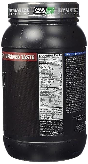 Dymatize ISO 100 Hydrolyzed - 1.6 lb Gourmet Chocolate