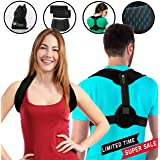Posture Corrector for Women & Men - Comfortable Adjustable Back Posture Brace & Clavicle Support - Premium Quality - Posture Support for Spine Correction, Realignment, Thoracic Kyphosis & Injury Rehab
