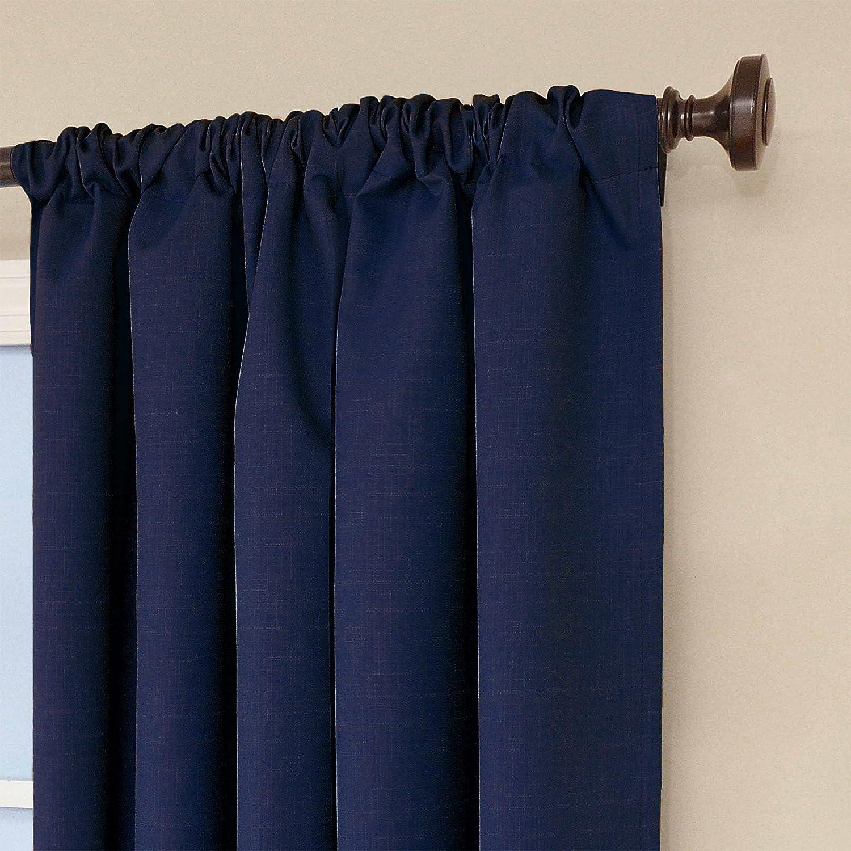 Eclipse Kids Kendall Blackout Thermal Curtain Panel Denim
