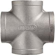 Stainless Steel 316 Cast Pipe Fitting, Cross, Class 150, NPT Female