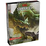 Dungeons & Dragons Starter Set: Fantasy D&D Roleplaying Game 5th Edition (RPG Boxed Game) (Color: Black, White, Green, Tamaño: Basic)
