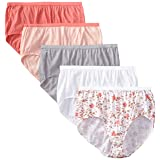 Just My Size Women's 5 Pack Cotton Brief Color Panty, Assorted, 12