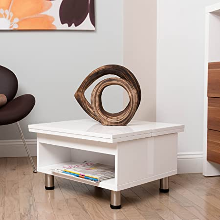Matrix Juno Functional Multi-Shape Coffee Table, White