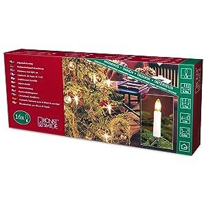 Konstsmide 1068-010 - Guirnalda LED para el árbol de navidad (velas de luz, 10 diodos de blanco cálido, 230 V, 1W, para interiores)   Comentarios y más información