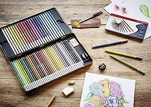 Stabilo CarbOthello Chalk-Pastel Colored Pencil, 4.4 mm - 48-Color Set (Color: assorted colors, Tamaño: 48-Color Set)