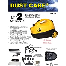 Dust Care DCS-28 Lil-Steamer 2 Canister Cleaner, 58 PSI Steam Pressure