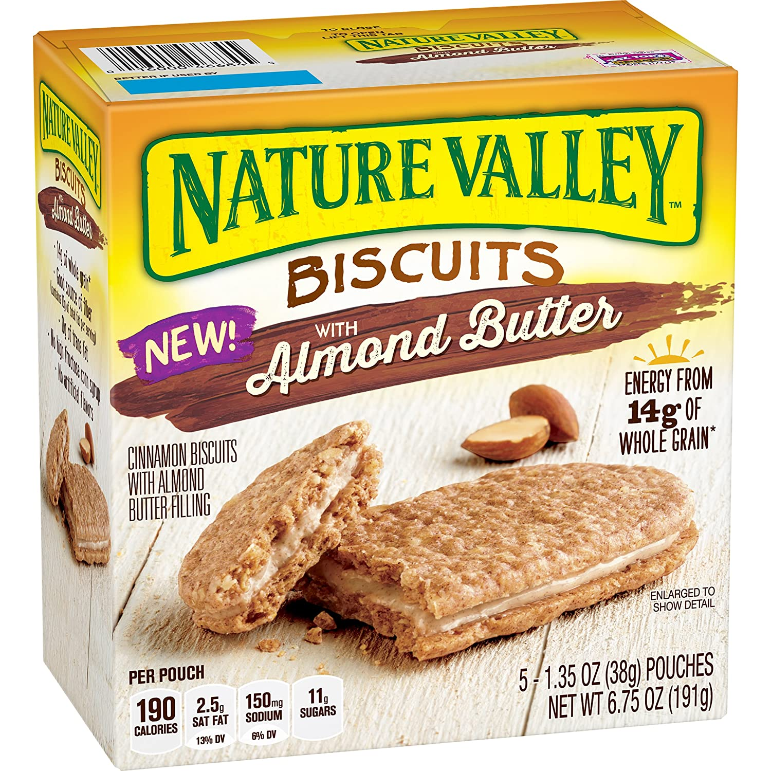 Nature Valley Biscuits, Almond Butter, 5 Count