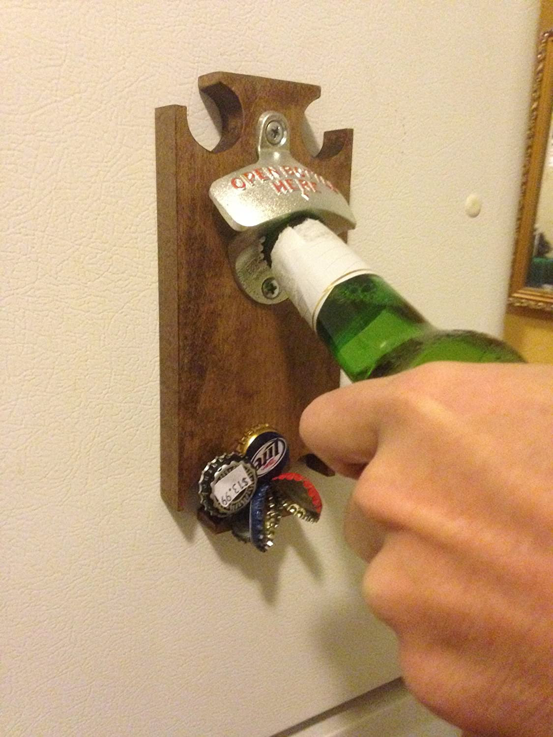 Magnetic Bottle Opener and Cap Catcher