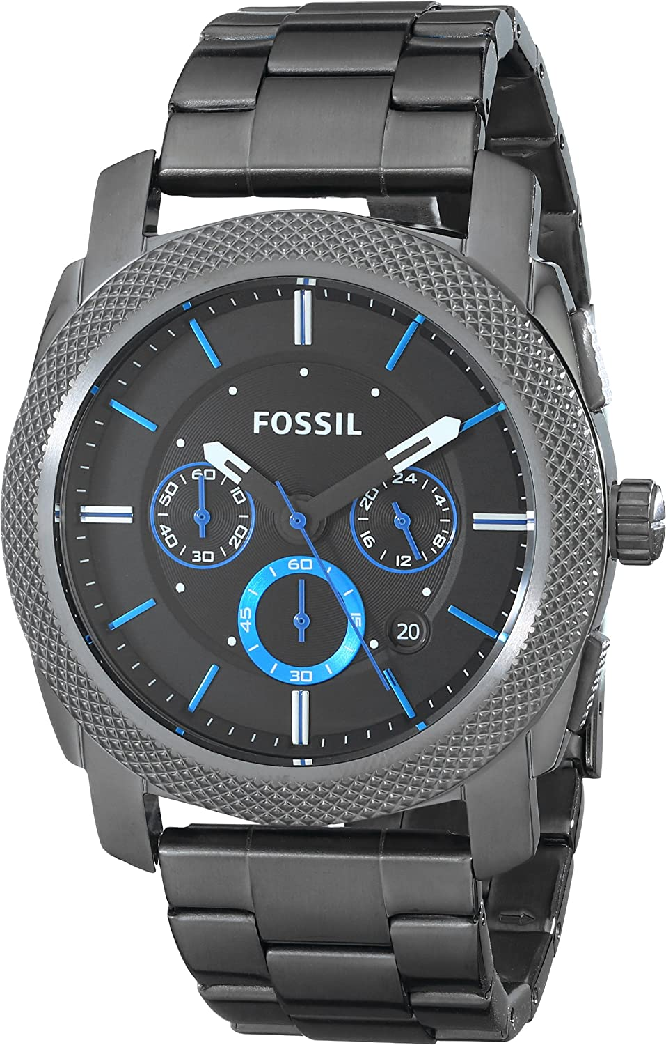 55dc9ed49c1 Fossil Men s FS4931  Machine  Chronograph Black Stainless Steel Watch