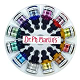 Dr. Ph. Martin's 400869-XXX  Iridescent Calligraphy Color Bottles, 1.0 oz, Set of 12 (Set 2) (Color: Set 2)