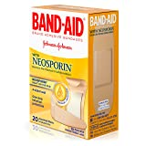 Johnson & Johnson 100557000 Band-Aid Plus Neosporin Adhesive Bandages (Pack of 20)