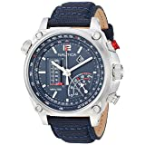Nautica Men's 'MILLROCK Collection' Quartz Stainless Steel and Nylon Casual Watch, Color:Blue (Model: NAPMLR002) (Color: Blue)