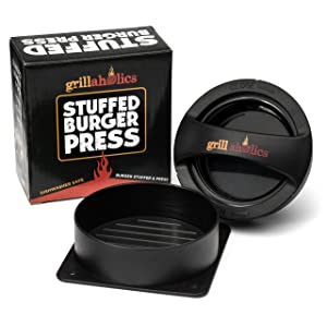 Grillaholics Stuffed Burger Press and Recipe eBook - Hamburger Patty Maker for Grilling review