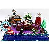 15 Piece ANIME Studio Ghibli Themed Birthday Cake Topper Set Featuring Ponyo, Yubaba, Jiji, Kodoma and Decorative Themed Accessories