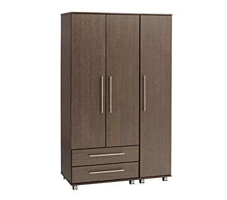 Ideal Furniture New York 3 Door Plus 2 Drawer Wardrobe, Wood, Wenge