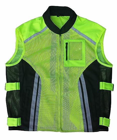 MK Gilet de sécurité fluorescent pour moto Jaune