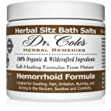 Dr. Cole's Hemorrhoid Sitz Bath Treatment: Organic, Herbal Bath Salts That Soothe Itching, Swelling And Pain Related to Hemorrhoids. Safe For All Ages. For Use In Small Sitz Bath Basin Or Bath Tub. (Color: Herbal Salts)