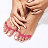 Toe Separators By Pedicura – Gel Toe Stretcher For Bunions & Overlapping Toes – Toe Straightener With Anti-Inflammatory Essential Oils For Pain Relief – Ergonomic Design For Sports Activities (Pink) (Color: Pink, Tamaño: One-size)