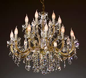 chandelier 18 arms made with SPECTRA® Crystal by SWAROVSKI brass       review and more information