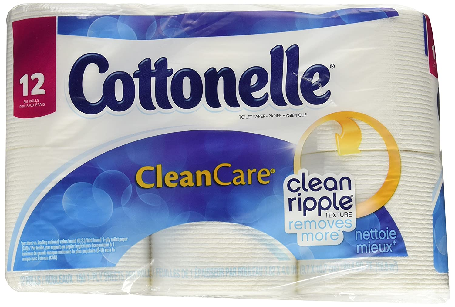 Cottonelle Clean Care Big Roll Toilet Paper (Pack of 12)