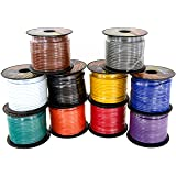 GS Power 14 Gauge Copper Clad Aluminum Primary Low Voltage Wire in 10 Colors Roll Combo Pack   100 ft per Roll (1000 feet Total)   Also Available in 4 Rolls (400') Color Set (Color: Red, Black, Blue, Yellow, White, Green, Purple, Grey, Orange, Brown, Tamaño: 14 Ga)