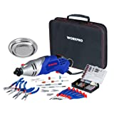 WORKPRO Multi-function Rotary Tool Kit Variable Speed with Universal Fitment Accessories and Precision Pliers and Screwdrivers Set 152-piece for Around Home and DIY Projects (Tamaño: 152-Piece)