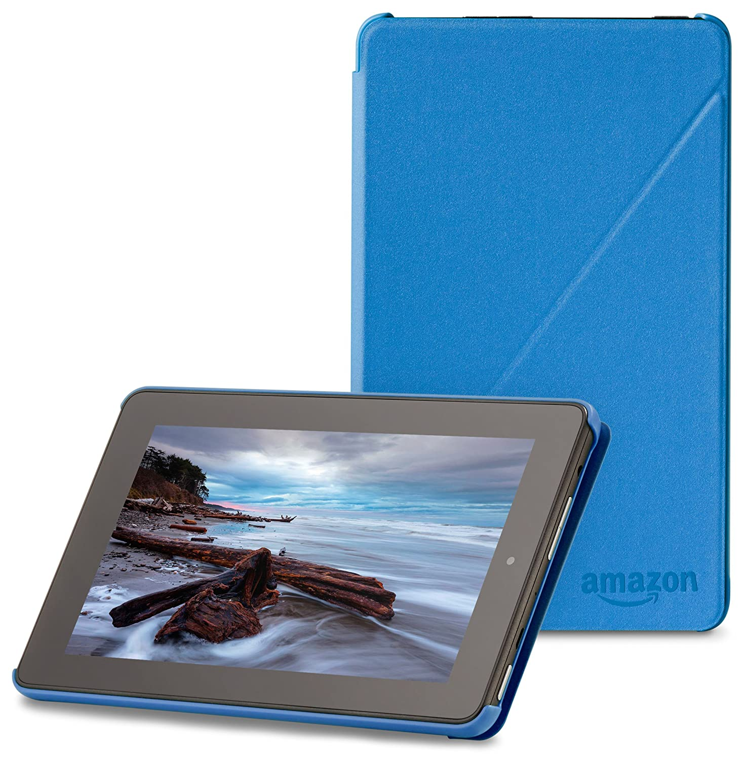 "Amazon Fire 7"" (2015 release) Case - Slim Lightweight Standing Custom Fit Cover for Amazon Fire 7 Inch Tablet, Blue"