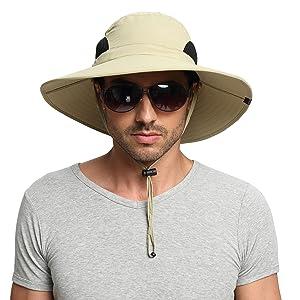 0a73d7aaf91 EINSKEY Men s Wide Brim Sun Hat