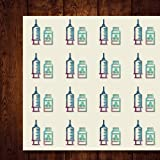 Vaccine Biochemistry Science Chemical Biology Craft Stickers, 44 Stickers at 1.5 Inches, Great Shapes for Scrapbook, Party, Seals, DIY Projects, Item 466107