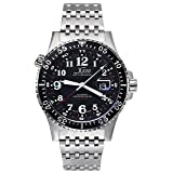 Xezo Air Commando D45-R, 300 Meters Water-Resistant Dive and Pilot Swiss Automatic GMT Watch with 3 Time Zones (Tamaño: X-large)