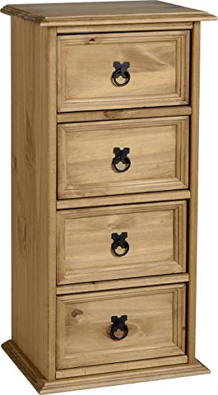 Seconique Corona 4 Drawer CD petto