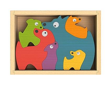 Puzzle Toys Dogs Beginagain Dog Family Puzzle