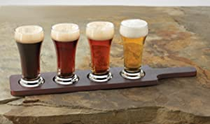 beer flight pilsner glass set bachelor gift
