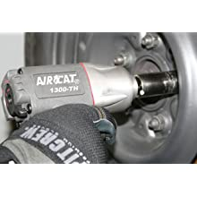 AIRCAT 1300-TH 3/8-Inch Composite Air Impact Wrench with Super Clutch Twin Hammer Mechanism
