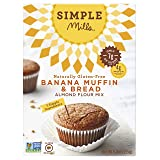 Simple Mills Almond Flour Mix, Banana Muffin & Bread, Naturally Gluten Free, 9 oz - 3 pack